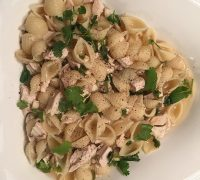 Lemon Chicken and Shell pasta