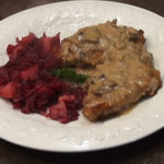 German Jagarschnitzel with red cabbage